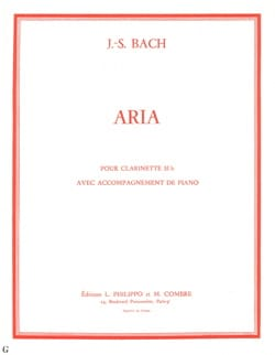 Aria - Clarinette BACH Partition Clarinette - laflutedepan