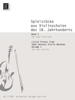 Spielstücke aus Violinschulen des 18. Jahrhunderts für 2 Violinen Bd. 1 laflutedepan
