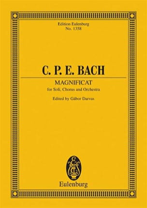 Carl Philipp Emanuel Bach - Magnificat D-Dur (Wq 215) - Partition - di-arezzo.fr