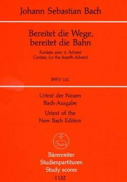 BACH - Bereitet Die Wege, Bereitet Die Bahn. Kantate Zum Vierten Advent. Bwv 132 - Partition - di-arezzo.fr