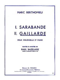 Marc Berthomieu - Gaillarde - Sheet Music - di-arezzo.co.uk