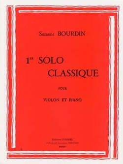 1er Solo classique Suzanne Bourdin Partition Violon - laflutedepan