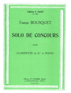 Francis Bousquet - Solo de concours - Partition - di-arezzo.fr