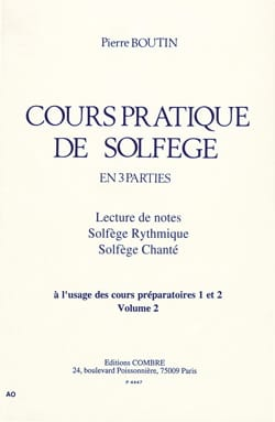Pierre Boutin - Practical Course of Solfeggio - Volume 2 - Partition - di-arezzo.co.uk