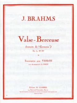 Johannes Brahms - Valse - Berceuse op. 39 n° 15 - Partition - di-arezzo.fr