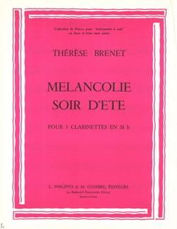 Thérèse Brenet - Mélancolie - Soir d'été - Partition - di-arezzo.fr