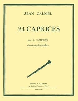 Jean Calmel - 24 Caprices - Clarinet In All Tonalites - Sheet Music - di-arezzo.com
