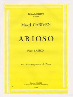 Marcel Cariven - Arioso - Partition - di-arezzo.fr