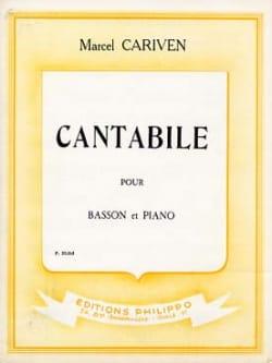 Marcel Cariven - Cantabile - Sheet Music - di-arezzo.com