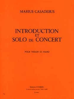 Marius Casadesus - Introduction and Concert Solo - Sheet Music - di-arezzo.com