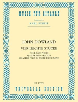 John Dowland - 4 Leichte Stücke - Gitarre - Partition - di-arezzo.fr