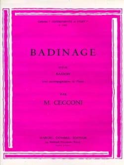 Badinage Monic Cecconi Partition Basson - laflutedepan