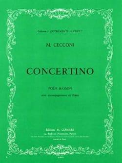 Concertino pour basson Monic Cecconi Partition Basson - laflutedepan
