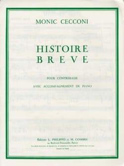 Histoire Brève Monic Cecconi Partition Contrebasse - laflutedepan