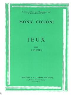 Monic Cecconi - Jeux - 2 Flûtes - Partition - di-arezzo.fr