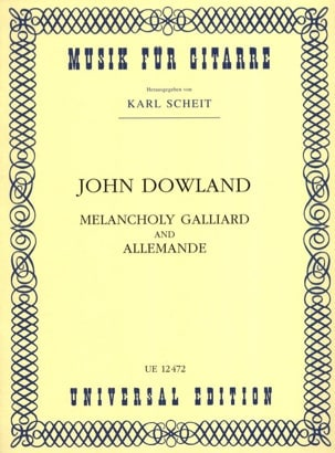 John Dowland - Melancholy Galliard and Allemande - Partition - di-arezzo.fr
