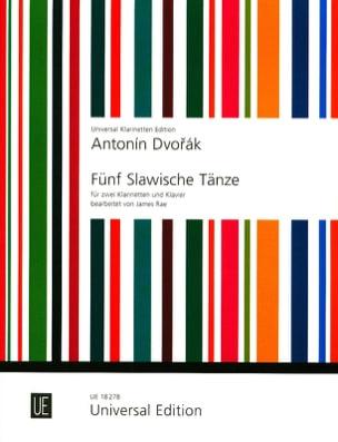 Antonin Dvorak - 5 Slawische Tänze Op. 46 - Partition - di-arezzo.fr
