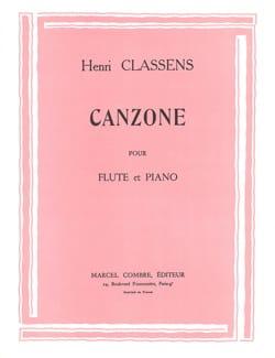 Henri Classens - Canzone - Partition - di-arezzo.fr