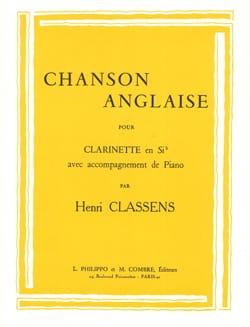 Henri Classens - Chanson anglaise - Partition - di-arezzo.fr