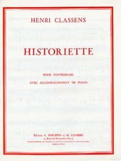 Henri Classens - Historiette - Partition - di-arezzo.fr