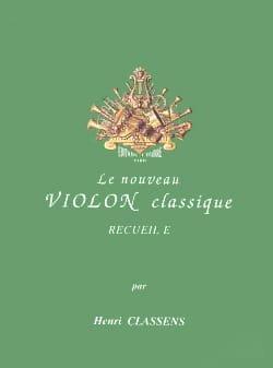 Le Nouveau Violon Classique Volume E CLASSENS Partition laflutedepan