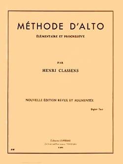 Henri Classens - Méthode d'alto - Partition - di-arezzo.fr