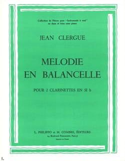 Jean Clergue - Mélodie - En ballancelle - Partition - di-arezzo.fr