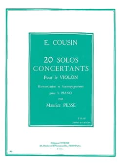 Emile Cousin - 20 Concert Solos, Series 2 11 to 20 - Sheet Music - di-arezzo.com