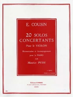 Emile Cousin - 20 Solos Concertants - Series 1 1 to 10 - Sheet Music - di-arezzo.co.uk