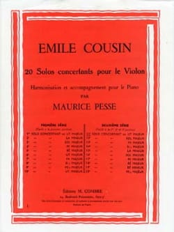 Emile Cousin - Solo concertant n° 11 en ut majeur - Partition - di-arezzo.fr