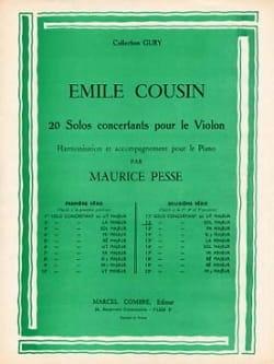 Emile Cousin - Solo concertant n° 12 en sol majeur - Partition - di-arezzo.fr