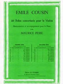 Emile Cousin - Solo concertant n° 14 en si bémol majeur - Partition - di-arezzo.fr