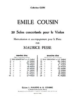 Emile Cousin - Solo concertant n° 15 en la mineur - Partition - di-arezzo.fr
