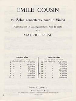 Solo concertant n° 18 en ré majeur - Emile Cousin - laflutedepan.com