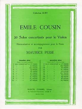 Emile Cousin - Solo concertant n° 19 en ré mineur - Partition - di-arezzo.fr