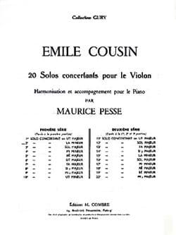 Solo concertant n° 2 en la mineur Emile Cousin Partition laflutedepan