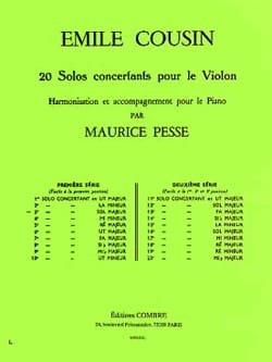 Emile Cousin - Solo concertante n ° 3 in Sol Majeur - Sheet Music - di-arezzo.co.uk