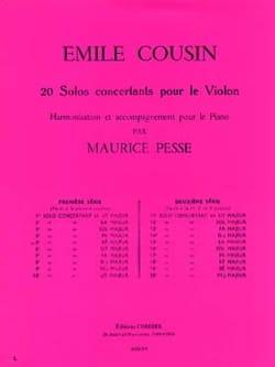 Emile Cousin - Solo concertant n° 5 en ré majeur - Partition - di-arezzo.fr