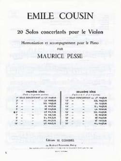 Emile Cousin - Concerto solo n ° 6 in C major - Sheet Music - di-arezzo.com