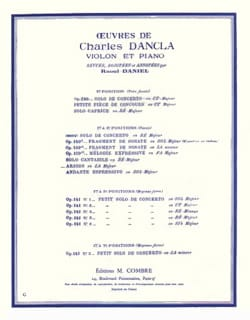DANCLA - Arioso in A major - Sheet Music - di-arezzo.com