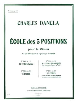 Charles Dancla - Ecole des 5 positions, Volume 1 op. 122 - Partition - di-arezzo.fr