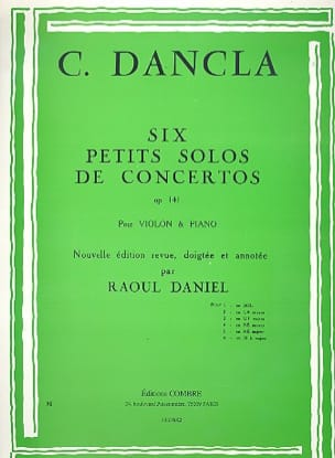Charles Dancla - Small concerto solo op. 141 No. 1 in G Major - Sheet Music - di-arezzo.com