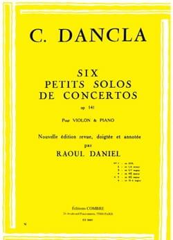 Charles Dancla - Petit Solo de Concerto Op. 141 N° 5 en Ré Majeur - Partition - di-arezzo.fr