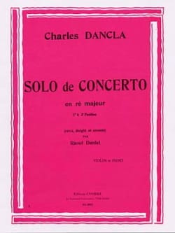 DANCLA - Solo Concerto in D Major - Sheet Music - di-arezzo.com