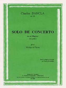 Charles Dancla - Solo de concerto en ut majeur op. 210 - Partition - di-arezzo.fr