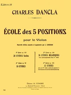 Charles Dancla - Ecole des 5 positions, Volume 3 op. 128 - Partition - di-arezzo.fr