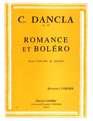 DANCLA - Romance and Bolero Op. 50 - Sheet Music - di-arezzo.co.uk