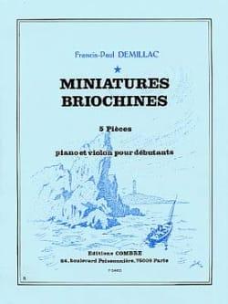 Miniatures Briochines Francis-Paul Demillac Partition laflutedepan