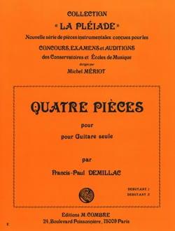 4 Pièces - Francis-Paul Demillac - Partition - laflutedepan.com