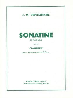 Jean-Marie Depelsenaire - Sonatine en fa mineur - Clarinette - Partition - di-arezzo.fr